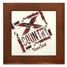 Customize XC Cross Country Framed Tile
