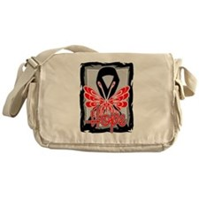 Hope Butterfly Melanoma Messenger Bag