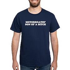 Motorboatin SOB Blue T-Shirt