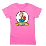 WORLDS GREATEST CRYBABY CARTOON.png Girl's Tee