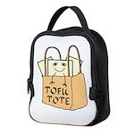 Funny Tofu Tote Neoprene Lunch Bag