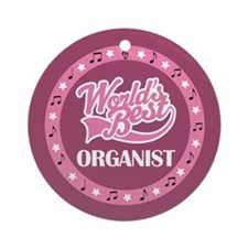 Worlds Best Organist Ornament (Round)