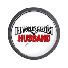 """The World's Greatest Husband"" Wall Clock"