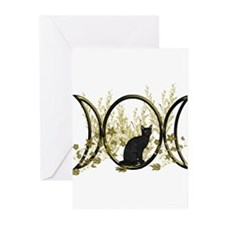 Triple Moon Art Series Cat Greeting Cards (Pk of 2