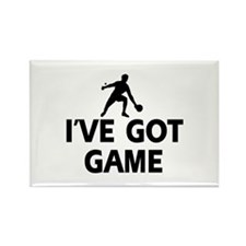 I've got game Ping Pong designs Rectangle Magnet (