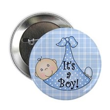 "It's a Boy (White) 2.25"" Button (10 pack)"