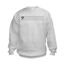 Bass Cleff Staff Sweatshirt