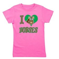 love horses.png Girl's Tee