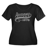 Awesome Since 1975 Women's Plus Size Scoop Neck Da