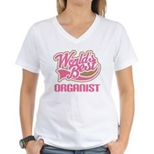 Worlds Best Organist Women's V-Neck T-Shirt