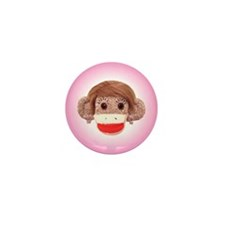 Sock Monkey Trio Mini Button (100 pack)