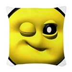 yell-winky-face.png Woven Throw Pillow