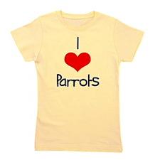 i-heart-parrots.png Girl's Tee