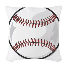 baseball.png Woven Throw Pillow
