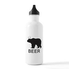 Beer. Bear with Deer Antlers Water Bottle