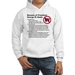 Bush/Resume Hooded Sweatshirt