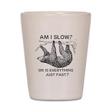 Sloth Am I Slow? Shot Glass