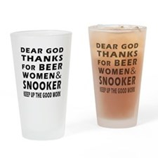 Beer Women And Snooker Drinking Glass