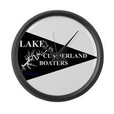 Lake Cumberland Boaters Pennant Large Wall Clock