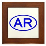 AR Oval - Arkansas Framed Tile