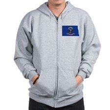 North Dakota Flag Zip Hoodie