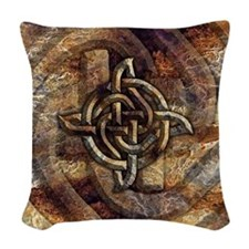Celtic Rock Knot Woven Throw Pillow