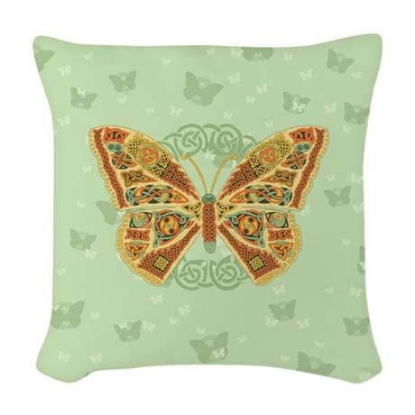 Celtic Butterfly Woven Throw Pillow