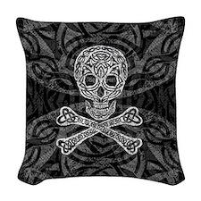 Celtic Skull & Crossbones Woven Throw Pillow