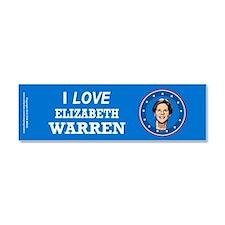 I Love Elizabeth Warren Car Magnet 10 x 3