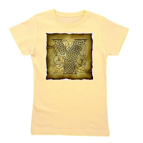 Celtic Letter Y Girl's Tee