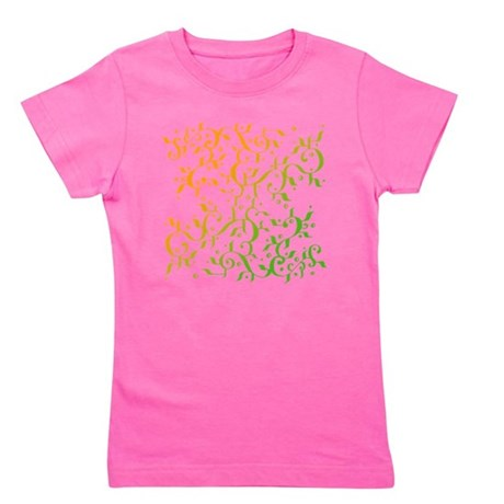 Abstract Arabic Design Girl's Tee