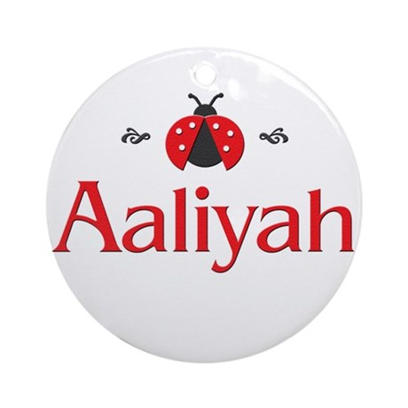 Red LadyBug - Aaliyah Ornament (Round)