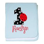 1 Ladybug RAELYN - Custom baby blanket
