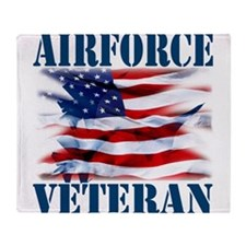 Airforce Veteran copy Throw Blanket