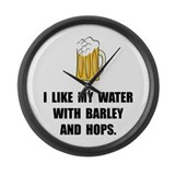 Barley Hops Large Wall Clock