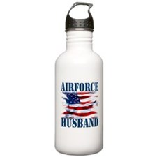 Airforce Husband Water Bottle