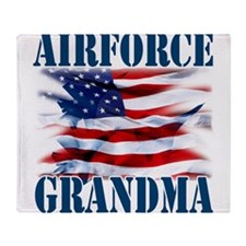 Airforce Grandma Throw Blanket