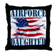 Airforce Daughter Throw Pillow
