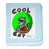 Cool Cat baby blanket