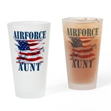 Airforce Aunt Drinking Glass