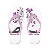 Books are a Bridge Pink/Purple Flip Flops