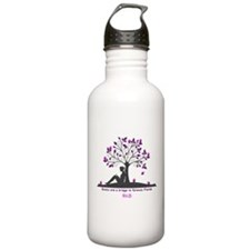 Books are a Bridge Pink/Purple Water Bottle