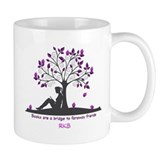 Books are a Bridge Pink/Purple Coffee Mug
