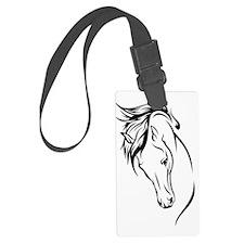 horse head sketch Luggage Tag