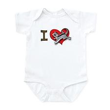 I heart sugar gliders Infant Bodysuit
