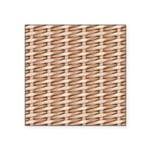 Brown Wicker Look Square Sticker 3