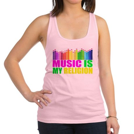 Music is My Religion Shirt Racerback Tank Top