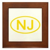 NJ Oval - New Jersey Framed Tile