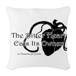 The Bitter Heart Woven Throw Pillow