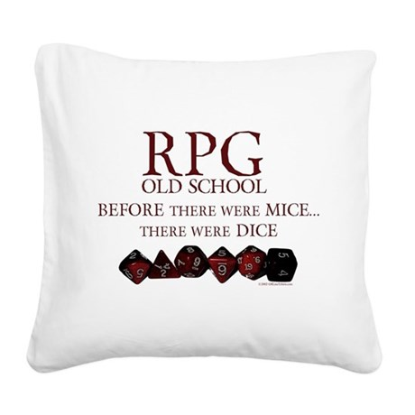 rpgoldschool.jpg Square Canvas Pillow